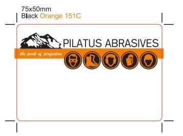 Pilatus Abrasives Sticker Design