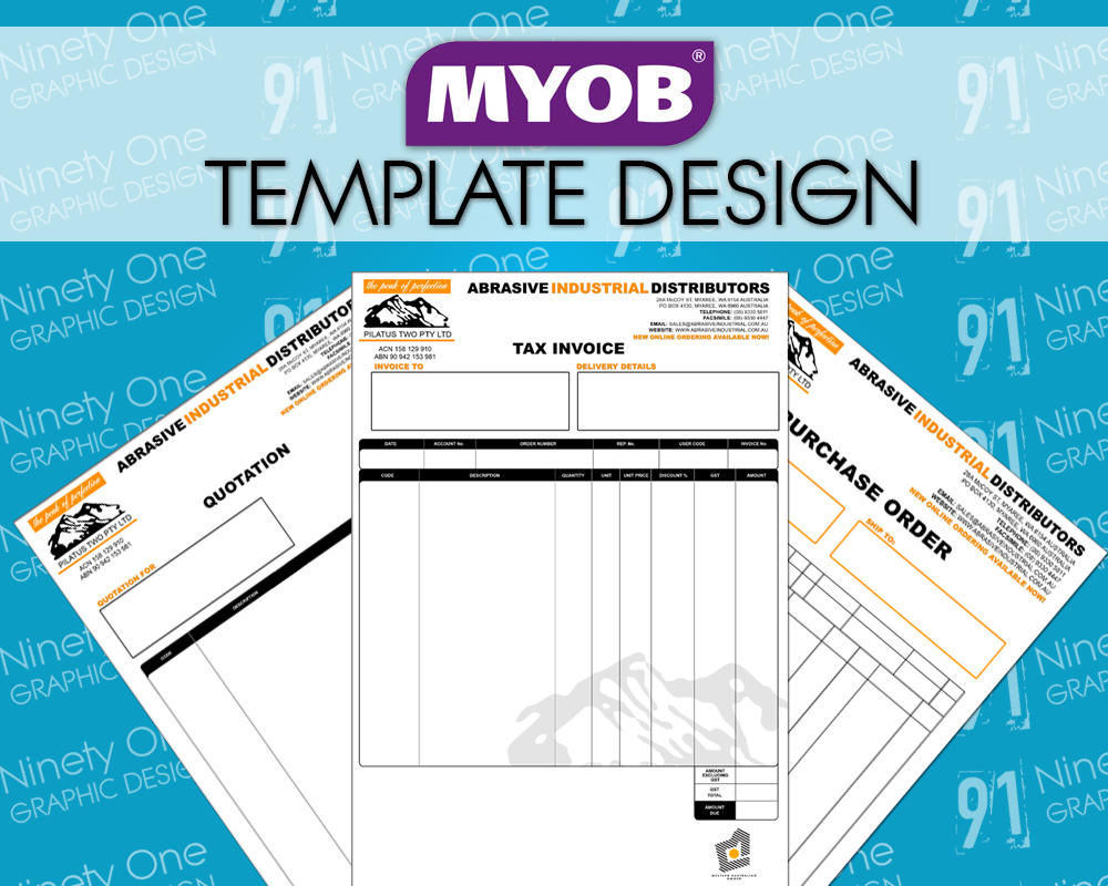 Abrasive Industrial Distributors Invoice Templates