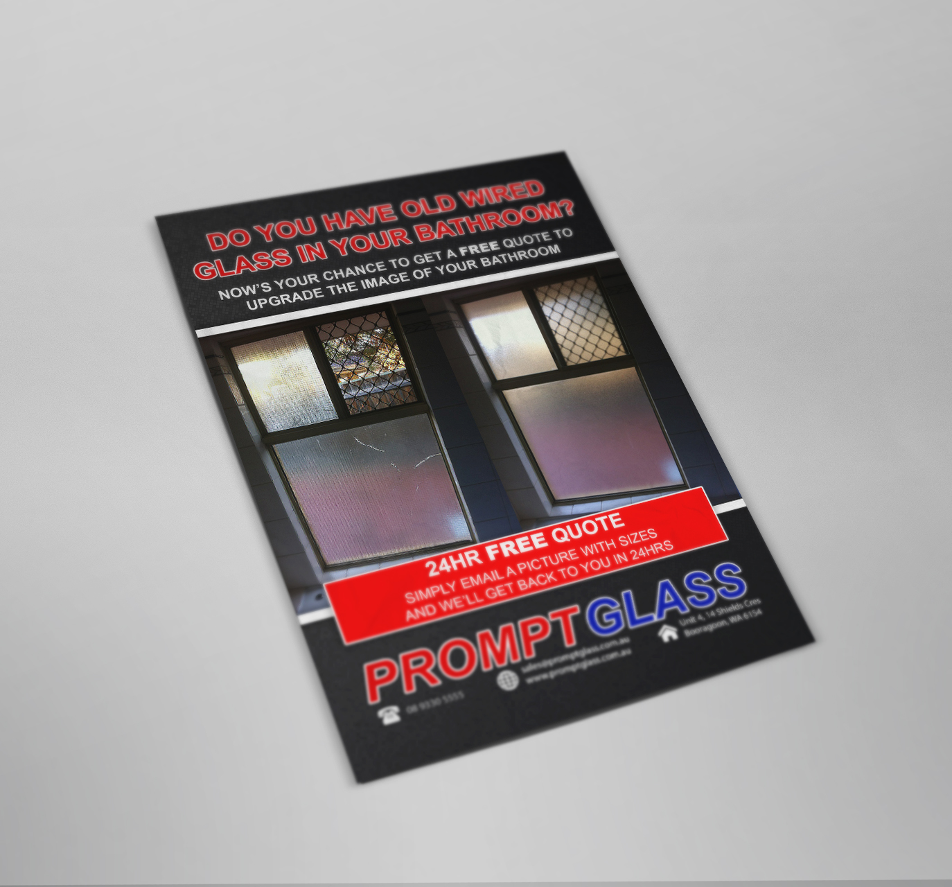 Prompt Glass Flyer Design