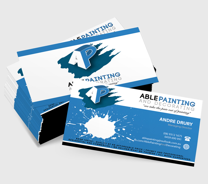Able Painting Business Card Design